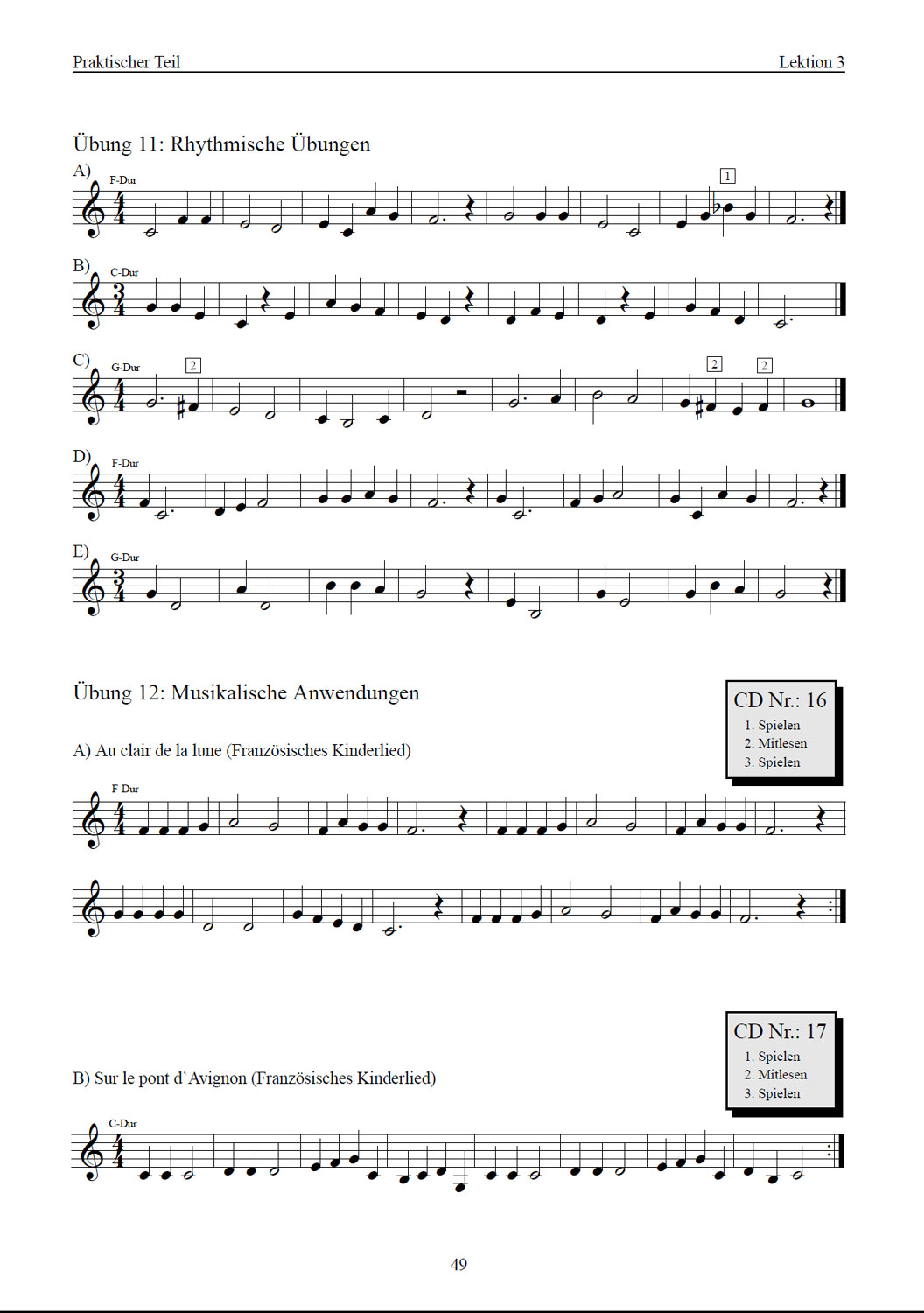 Trompete Lernen Band 1 (B-Notation)
